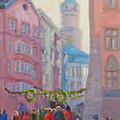 Christmas Shopping - Innsbruck by Bunny Oliver
