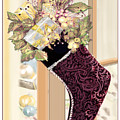 Christmas Stocking by Arline Wagner