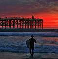 Christmas Surfer Sunset by Sam Antonio Photography