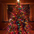 Christmas Tree Light Spikes Colorful Abstract by James BO  Insogna