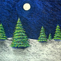 Christmas Trees In The Snow by Nancy Mueller