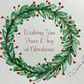 Christmas Wreath by Diane Buerkle