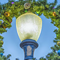 Christmas Wreath Lampost by David Zanzinger