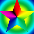 Chromatic Star With Ring Gradient by Eric Edelman