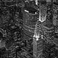 Chrysler Building Aerial View Bw by Susan Candelario