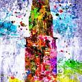 Chrysler Building Colored Grunge by Daniel Janda