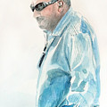 Chubby Chandler Watercolor by Mark Robinson