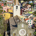 Church And Town Of Riomaggiore Italy by John McGraw