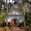 Church At Micanopy by David Lee Thompson