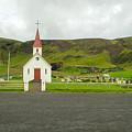 Church At Vik I Myrdal Iceland by Deborah Squires