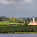 Church Birnau Lake Constance In Great Landscape by Matthias Hauser