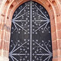 Church Door In Eltville by Sarah Loft