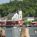 Church In Boothbay by Meandering Photography
