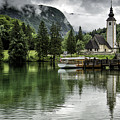 Church In Julian Alps Slovenia by Timothy Hacker