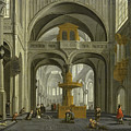 Church Interior by Daniel de Blieck