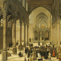 Church Interior With Christ Preaching To A Congregation, 1570 by Cornelis Van Dalem