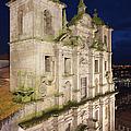 Church Of Saint Lawrence By Night In Porto by Artur Bogacki