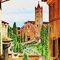 Church Of Santa Maria Dei Servi Siena Italy by Irina Sztukowski
