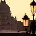 Church Of Santa Maria Della Salute With Lamp Post by Michael Henderson