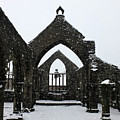 Church Of St Thomas A Becket In Heptonstall In Falling Snow by Philip Openshaw