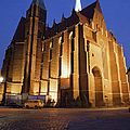 Church Of The Holy Cross By Night In Wroclaw by Artur Bogacki
