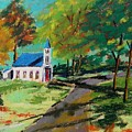 Church On The Bend Landscape by John Williams