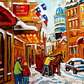Church Street In Winter by Carole Spandau