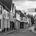 Church Street Sawbridgeworth In Black And White by Gill Billington