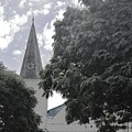 Church Tower Among The Green Of The Trees In A City Of Northeastern Brazil. by Airo Zamoner