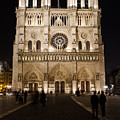 Churches At Night In Paris by Miguel Winterpacht