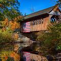 Cilleyville Bog Bridge In Autumn by Jeff Folger