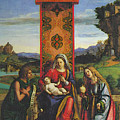 Cima Da Conegliano The Madonna And Child With St John The Baptist And Mary Magdalen by PixBreak Art