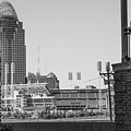Cincinnati And Building  by John McGraw