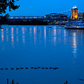 Cincinnati Belle Suspension Bridge by Randall Branham