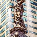 Cincinnati Fountain Genius Of Water By Tyler Davidson  by Paul Velgos
