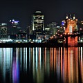 Cincinnati Lights The Ohio River by Frozen in Time Fine Art Photography