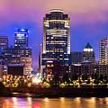 Cincinnati Ohio Skyline Panorama by Gregory Ballos
