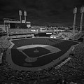 Cincinnati Reds Great America Ballpark Creative 3 Black And White by David Haskett II