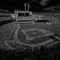 Cincinnati Reds Great America Ballpark Creative 4 Black And White by David Haskett II