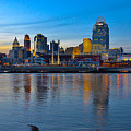 Cincinnati Skyline Across The Ohio River by Ina Kratzsch