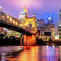 Cincinnati Skyline And Bridge Art - Ohio Cityscape Photography by Gregory Ballos