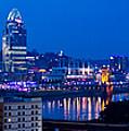 Cincinnati Skyline At Night by Jonny D