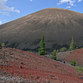 Cinder Cone And Painted Sands by Alan Olmstead