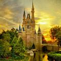 Cinderella Castle - Monet Style by Leonardo Digenio