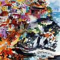 Cinque Terre Italy Manarola by Ginette Callaway