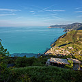 Cinque Terre Panorama by Joan Carroll