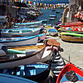Cinque Terre Skiffs by Roger Mullenhour