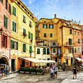 Cinque Terre - Vernazza Main Street - Vintage Version by Weston Westmoreland