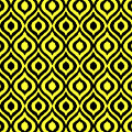Circle And Oval Ikat In Black N05-p0100 by Custom Home Fashions
