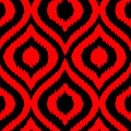 Circle And Oval Ikat In Black T02-p0100 by Custom Home Fashions